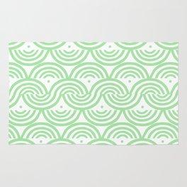 Geneveve Pattern - geometric pattern in soft light green Rug