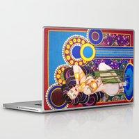 klimt Laptop & iPad Skins featuring African Klimt by Morgan Fay