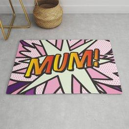 MUM Comic Book Cute Pink Fun Pop Art Rug