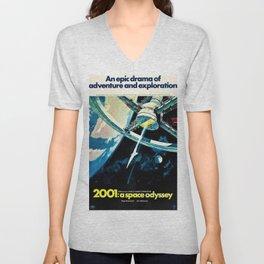 2001 A Space Odyssey 1968 American Lobby Broadside Vintage Film Poster Unisex V-Neck