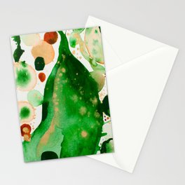 Green Study Stationery Cards