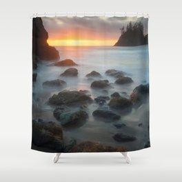 Sunset Near Pewetole Island Shower Curtain