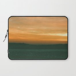 sunset over the frozen Lake Michigan  Laptop Sleeve