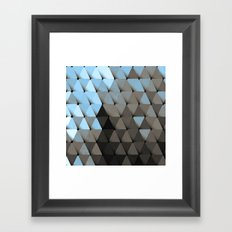 Triangles Blue Putty Framed Art Print