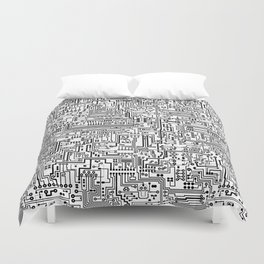 Circuit Board Duvet Cover
