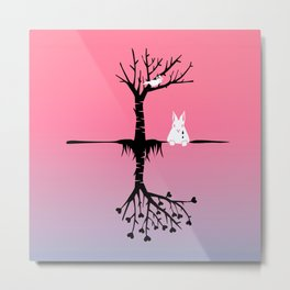Who Made The Rabbit Cry Metal Print
