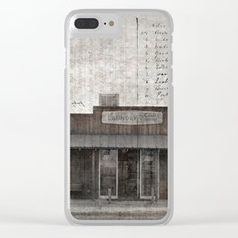 Coin Laundry Clear iPhone Case