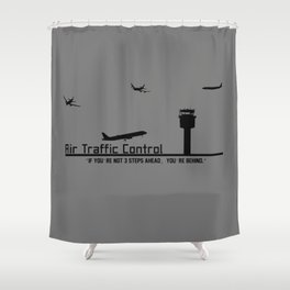 Air Traffic Control Shower Curtain