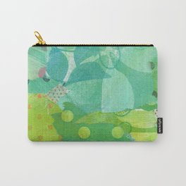 In the Garden Mixed media collage Carry-All Pouch