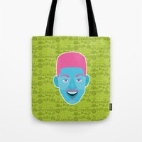 fresh prince Tote Bags featuring Will - The fresh prince of Bel-Air by Kuki