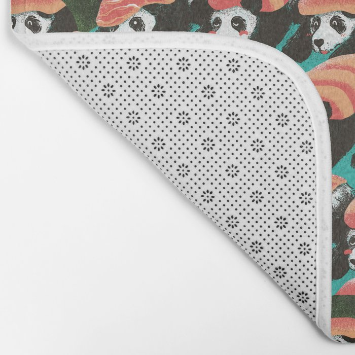 Sushi Panda Pattern Bath Mat