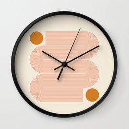 Abstraction_SUN_LINE_ART_Minimalism_002 Wall Clock