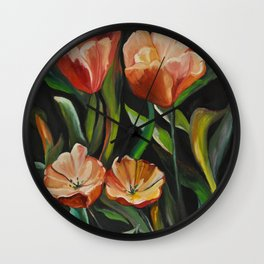 Flowers in Keukenhof Wall Clock