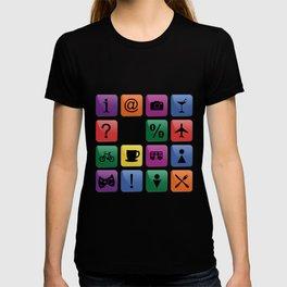 Tourist travel icon set T-shirt