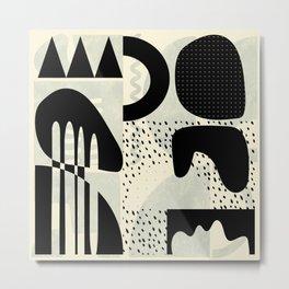 mid century geometric abstract Metal Print