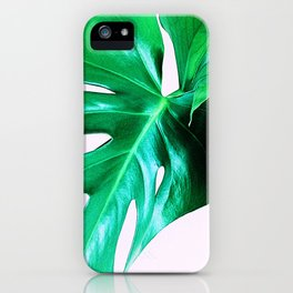 Cheese Plant Leaves iPhone Case