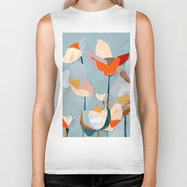 Abstract Art Flowers Biker Tank