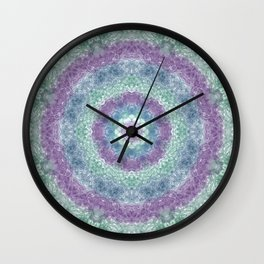 Iris Goddess Mandala Wall Clock