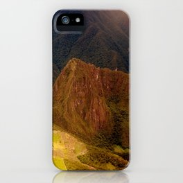 THE MACHU PICCHU VALLEY- PANORAMIC VIEW iPhone Case