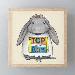Top of the Flops Framed Mini Art Print