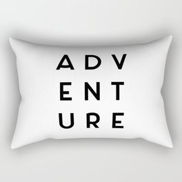 Adventure Minimalist Quote Rectangular Pillow