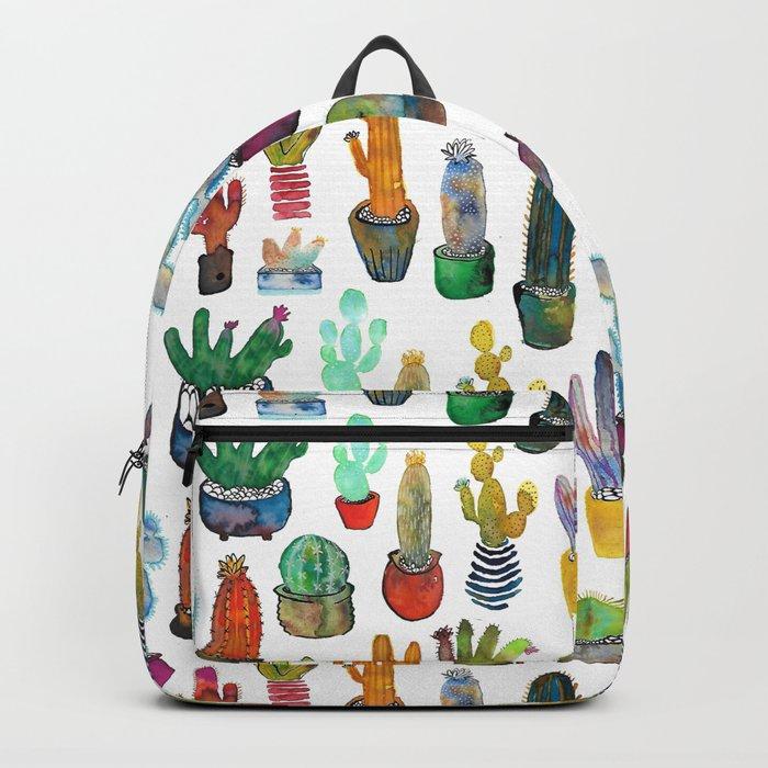 Funky Rainbow Cactus Pattern Backpack