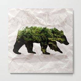 Backt to Nature: Mountain Bear Metal Print