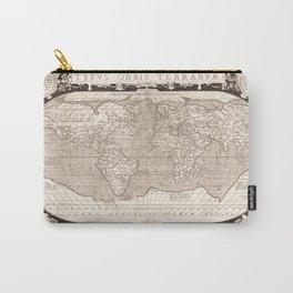 Typvs Orbis Terrarvm (World Map) by Abraham Ortelius (1628) Carry-All Pouch