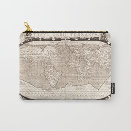 Typvs Orbis Terrarvm (World Map) by Abraham Ortelius (1628) Carry-All Pouch