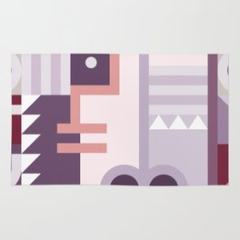 Abstract Art Geometric Portrait Rug