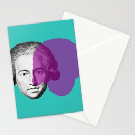 Goethe - teal and purple portrait Stationery Cards