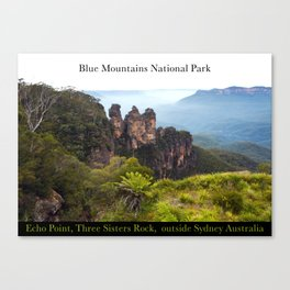 Blue Mountains National Park Australia Canvas Print