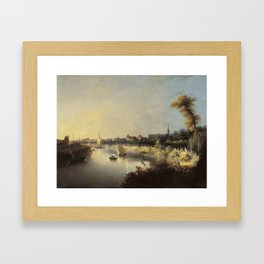 Manuel Barron y Carrillo, (1814 – 1884), View of the River Guadalquivir Framed Art Print