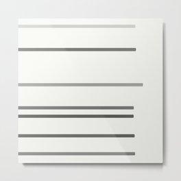 Grey lines Metal Print
