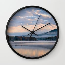 Pastel Dawn in the Adirondacks Wall Clock
