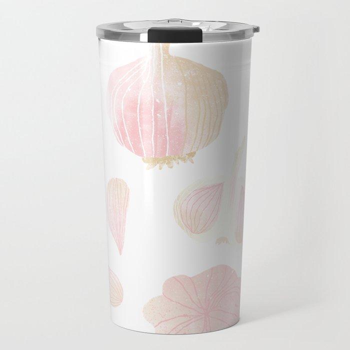 Garlic Illustration Travel Mug