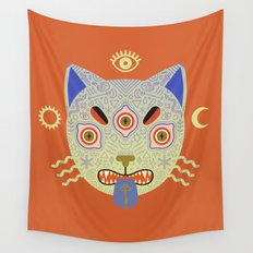 Mystic Cat Wall Tapestry