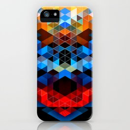 Red Beast Crowned in Blue iPhone Case
