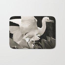 White bird dance 3 Bath Mat
