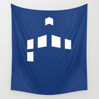 tardis Wall Tapestries featuring TARDIS by Anastase Kyriakos