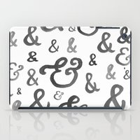 ampersand iPad Cases featuring Ampersand by Jill lynch