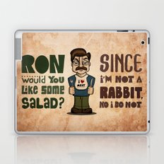 Ron Swanson 2 Laptop & iPad Skin