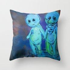 lil sprites Throw Pillow