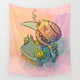 Robot Pirate Wall Tapestry