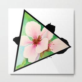 Cherry Bomb Triangle Metal Print