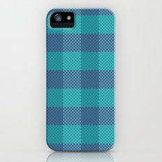 Pixel Plaid - Ice Sheet iPhone (5, 5s) Slim Case