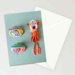 Anatomy of Small Ear Squid & Deep Water Clams Stationery Cards