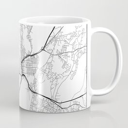Minimal City Maps - Map Of New Haven, Connecticut, United States Coffee Mug