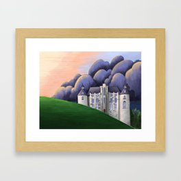 Castle in the sunset Framed Art Print