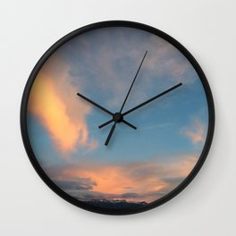 Wyoming Sky Wall Clock